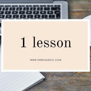 1 Spanish lesson
