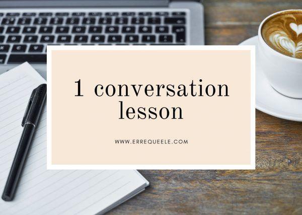 1 Spanish conversation lesson