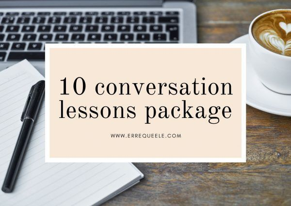10 Spanish conversation lessons package