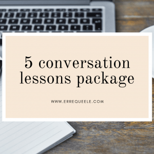 5 Spanish conversation lessons package