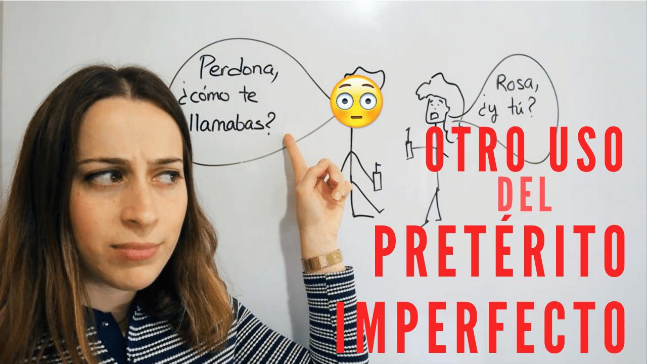 Otro uso del pretérito imperfecto