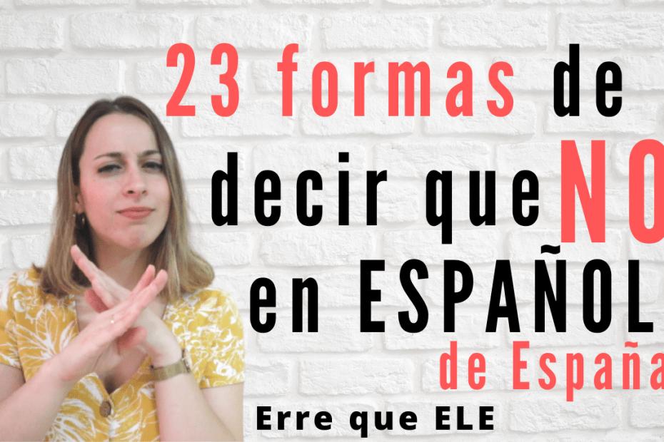Formas de decir que no en español